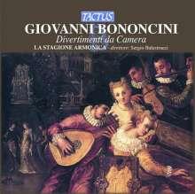 Giovanni Battista Bononcini (1670-1747): Divertimenti Nr.1-8 für Kammerorchester, CD