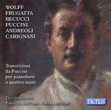 Giacomo Puccini (1858-1924): Transkriptionen für Klavier 4-händig, CD