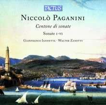 Niccolo Paganini (1782-1840): Sonaten für Violine & Gitarre Nr.1-6, CD