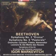 Ludwig van Beethoven (1770-1827): Symphonien Nr.3 & 6, 2 CDs