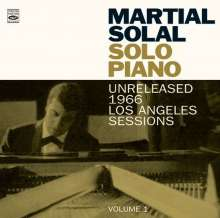 Martial Solal (geb. 1927): Solo Piano: Unreleased 1966 Los Angeles Sessions, CD
