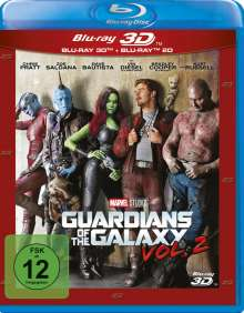 Guardians of the Galaxy Vol. 2 (3D & 2D Blu-ray), 2 Blu-ray Discs