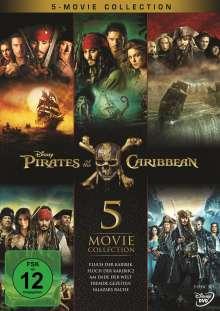 Pirates of the Caribbean - Fluch der Karibik 1-5, 5 DVDs