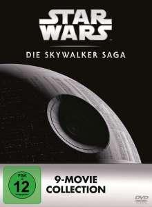 Star Wars 1-9: Die Skywalker Saga, 9 DVDs