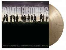 Filmmusik: Band Of Brothers (Michael Kamen) (20th Anniversary) (180g) (Limited Numbered Edition) (Black & Gold Marbled Vinyl), 2 LPs