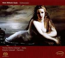 Niels Wilhelm Gade (1817-1890): Sonaten für Violine & Klavier Nr.1-3, Super Audio CD