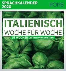 PONS Sprachkalender 2020 Italienisch Woche für Woche, Buch