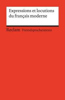 Berthe-Odile Simon-Schaefer: Expressions et locutions du français moderne, Buch