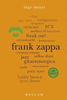 Ingo Meyer: Frank Zappa. 100 Seiten, Buch