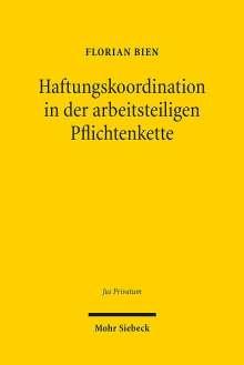 Florian Bien: Haftungskoordination in der arbeitsteiligen Pflichtenkette, Buch