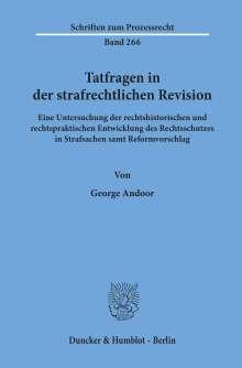George Andoor: Tatfragen in der strafrechtlichen Revision., Buch