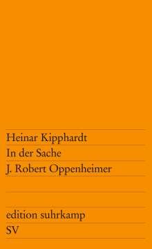 Heinar Kipphardt: In der Sache J. Robert Oppenheimer, Buch