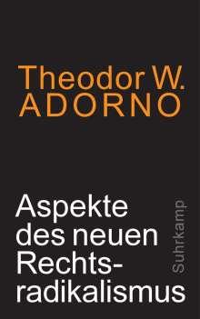 Theodor W. Adorno: Aspekte des neuen Rechtsradikalismus, Buch