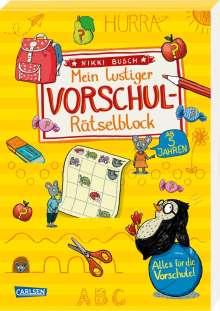 Nikki Busch: Mein lustiger Vorschul-Rätselblock, Buch