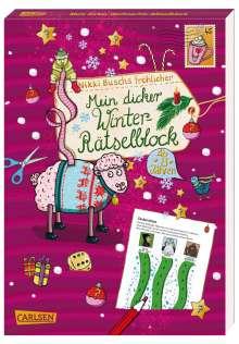 Nikki Busch: Mein dicker Winter-Rätselblock, Buch