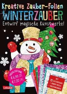 Anton Poitier: Kreative Zauber-Folien: Winterzauber: Set mit 10 Zaubertafeln, 20 Folien und Anleitungsbuch, Buch