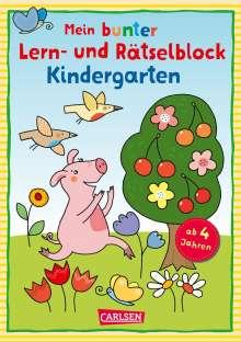 Laura Leintz: Mein bunter Lern- und Rätselblock: Kindergarten, Buch