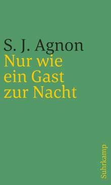 Samuel Joseph Agnon: Nur wie ein Gast zur Nacht, Buch