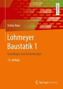 Stefan Baar: Lohmeyer Baustatik 1, Buch