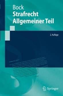 Dennis Bock: Strafrecht Allgemeiner Teil, Buch