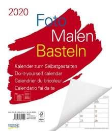 Foto-Malen-Basteln Bastelkalender weiß Notice groß 2020, Diverse