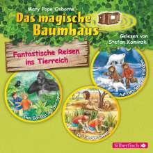 Fantastische Reisen ins Tierreich. Die Hörbuchbox (Das magische Baumhaus ), 3 CDs