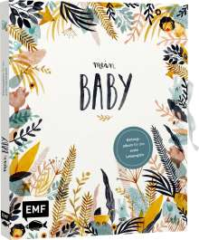 Jenny Boidol: Mein Baby -Illustriertes Eintragalbum für das erste Lebensjahr mit Briefumschlag fürs erste Löckchen und Schleife zum Verschließen, Buch