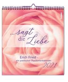 Erich Fried: ... sagt die Liebe 2021, Diverse