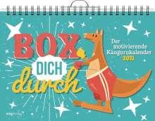 Box dich durch. Der motivierende Kängurukalender 2021, Kalender