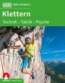 Michael Hoffmann: Alpin-Lehrplan 2: Klettern - Technik, Taktik, Psyche, Buch
