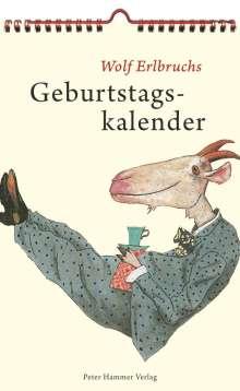 Wolf Erlbruchs Geburtstagskalender, Kalender