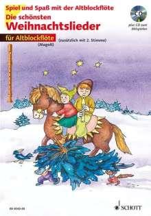 Die schönsten Weihnachtslieder für 1-2 Alt-Blockflöten. Mit CD, Noten