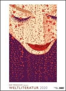 Kat Menschik: Kat Menschik illustriert Weltliteratur - Literarischer Posterkalender in Bildern 2020, Diverse