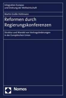 Martin Große Hüttmann: Reformen durch Regierungskonferenzen, Buch