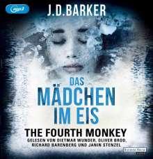 J. D. Barker: The Fourth Monkey - Das Mädchen im Eis, 1 MP3-CD und 1 Diverse