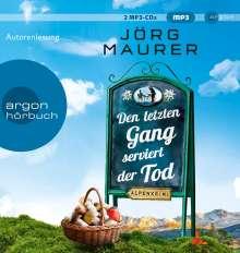 Jörg Maurer: Den letzten Gang serviert der Tod, 2 MP3-CDs