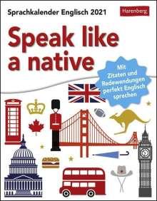 Redfern Jon Barrett: Speak like a native Kalender 2021, Diverse