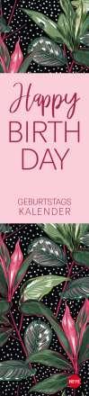 Tropical Leaves Geburtstagskalender long Kalender 2021, Diverse