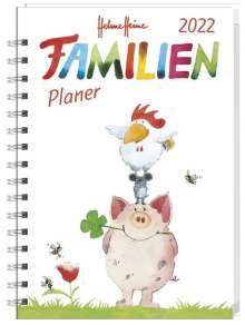 Helme Heine Familienplaner Buch A5 - Kalender 2022, Buch