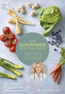 Anne Fleck: Der Superfood-Rezeptkalender 2020 - Rezeptkalender, Diverse
