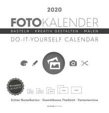 Foto-Bastelkalender 2020 groß datiert, weiß, Diverse