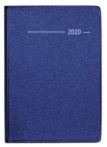 Taschenkalender Buch Metallic blau 2020, Diverse