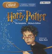 Joanne K. Rowling: Harry Potter - Die komplette Hörbuch Edition, 14 MP3-CDs