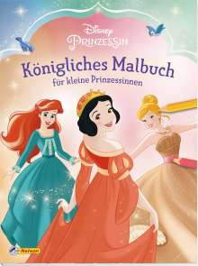 Disney Prinzessin: Königliches Malbuch für kleine Prinzessinnen, Buch