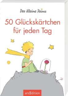 Antoine de Saint-Exupéry: Der Kleine Prinz. 50 Glückskärtchen für jeden Tag, Buch