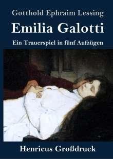 Gotthold Ephraim Lessing: Emilia Galotti (Großdruck), Buch
