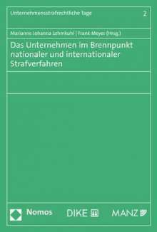 Das Unternehmen im Brennpunkt nationaler und internationaler Strafverfahren, Buch