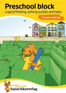 Linda Bayerl: Preschool  block - Logical thinking, solving puzzles and tasks 5 years and up, A5-Block, Buch