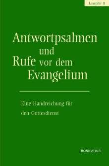 Antwortpsalmen und Rufe vor dem Evangelium - Lesejahr B, Buch