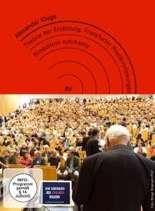 Alexander Kluge: Theorie der Erzählung - Frankfurter Poetikvorlesungen im Sommersemester 2012, 2 DVDs